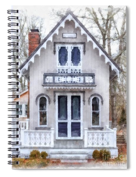 Victorian Cottage Watercolor Spiral Notebook by Edward Fielding