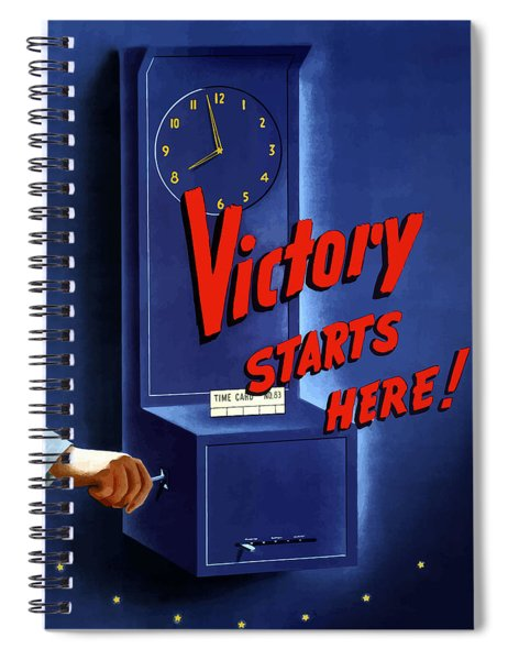 Victory Starts Here Spiral Notebook