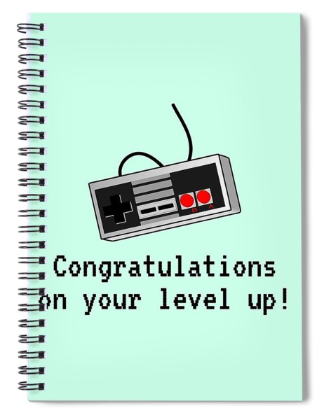 Video Gamer Birthday Card - Retro Game Console Card - Video Game Nerd - Congratulations On Your Leve Spiral Notebook