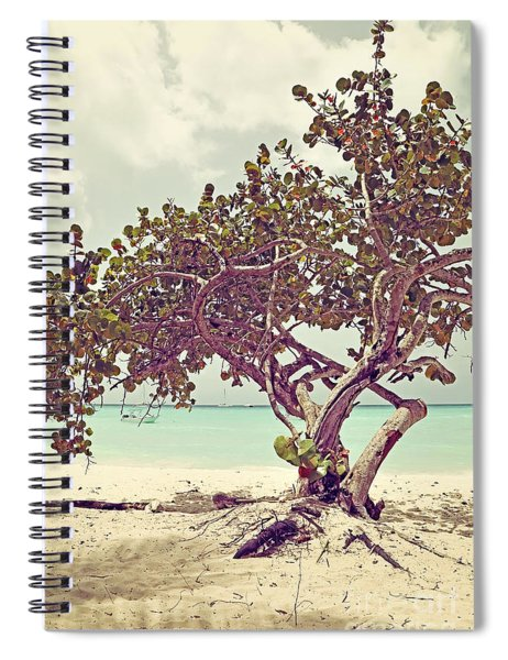 View At The Ocean With Boats In The Water Spiral Notebook