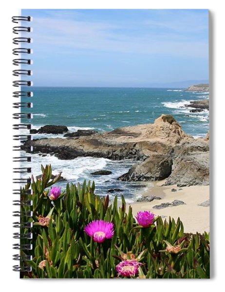 View From Bodega Head In Bodega Bay Ca - 3 Spiral Notebook