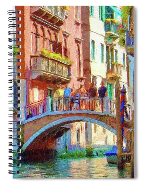 View From The Canal Spiral Notebook