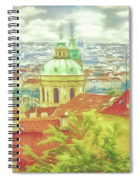 View From The High Ground - Prague  Spiral Notebook