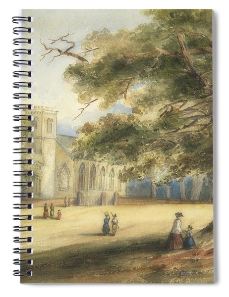 View Of A Churchyard, Southborough, Kent Spiral Notebook