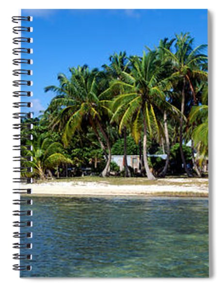 View Of Beachfront From Pier, Caye Spiral Notebook