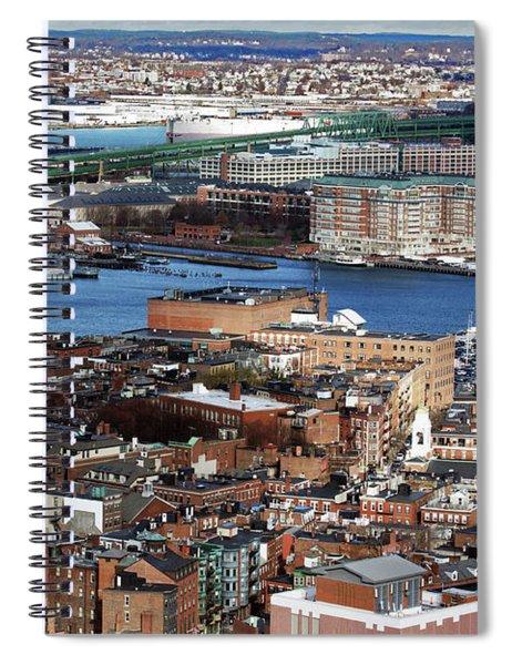 View Of Charlestown Navy Yard Spiral Notebook