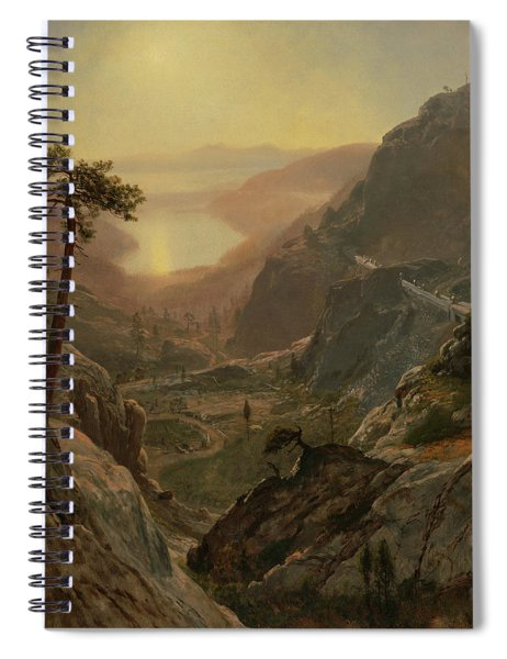 View Of Donner Lake, California Spiral Notebook