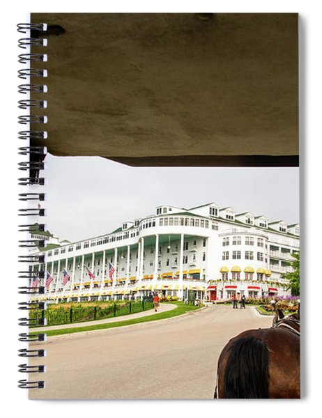 View Of Grand Hotel Spiral Notebook