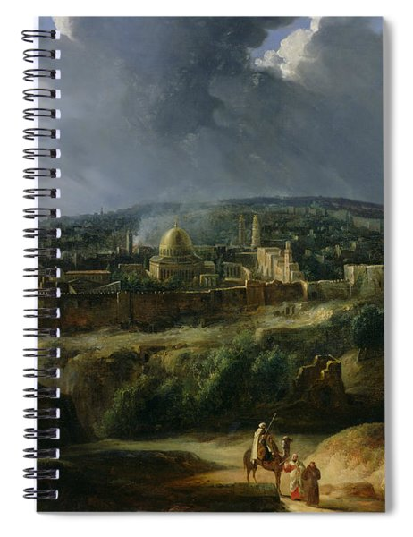View Of Jerusalem From The Valley Of Jehoshaphat Spiral Notebook