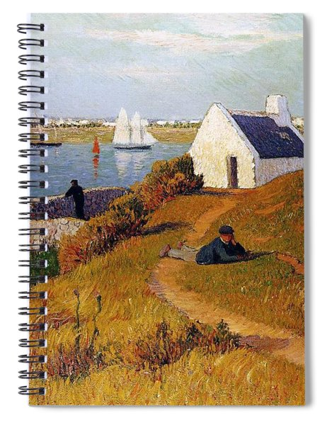 View Of Lorient In Brittany Spiral Notebook