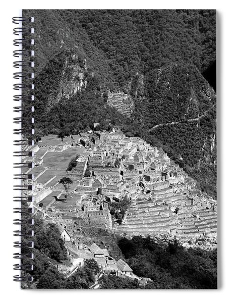 View Of Machu Picchu From The Inca Trail Spiral Notebook