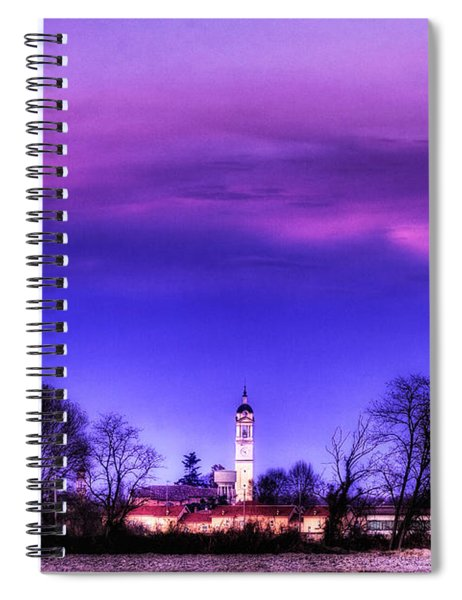 View Of San Giorgio Lomellina Spiral Notebook