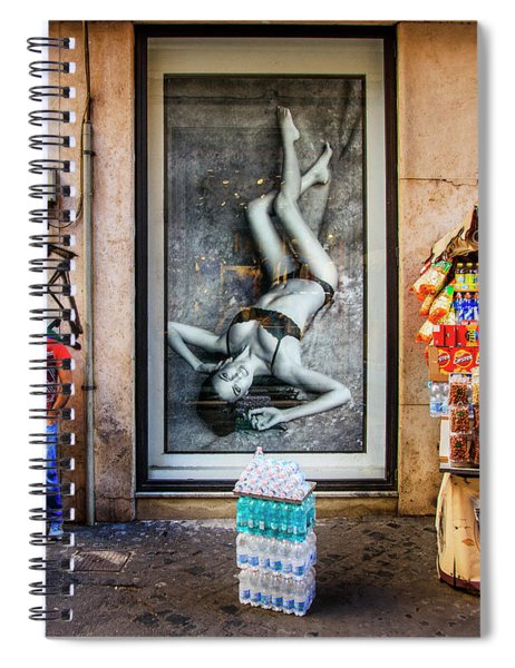 View Of The Food Cart Snack Man  Spiral Notebook