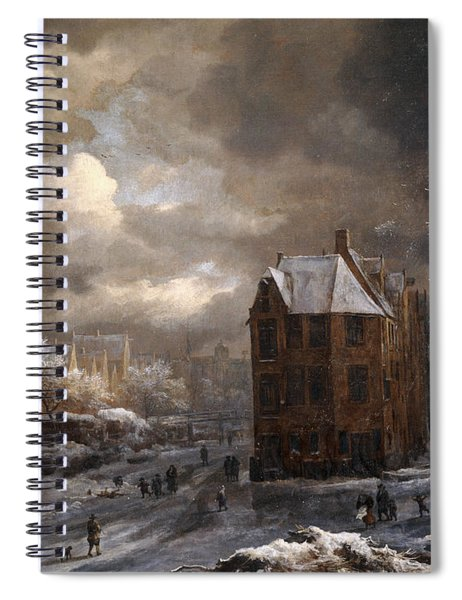 View Of The Hekelveld, Amsterdam, In Winter, Looking South Spiral Notebook