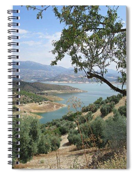 View Of The Lake Near Iznajar Spiral Notebook
