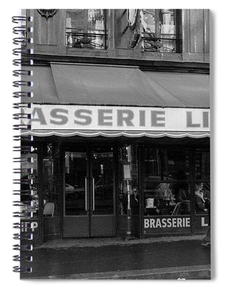 View Of The Lipp Restaurant In Saint Germain Des Pres In Paris On March 2, 1979 Spiral Notebook