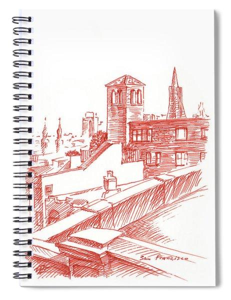 View Of Transamerica Pyramid Through Chestnut Street Spiral Notebook