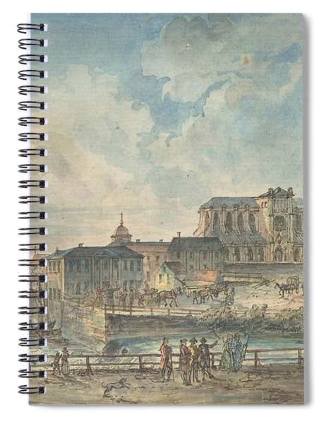 View Of Uppsala Cathedral From The North Spiral Notebook