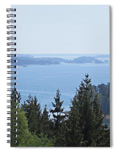 View On The Archipelago Near Trosa Spiral Notebook