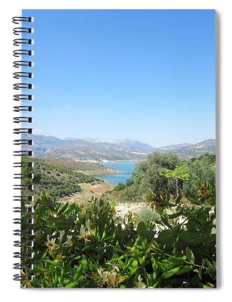 View On The Lake Near Iznajar Spiral Notebook