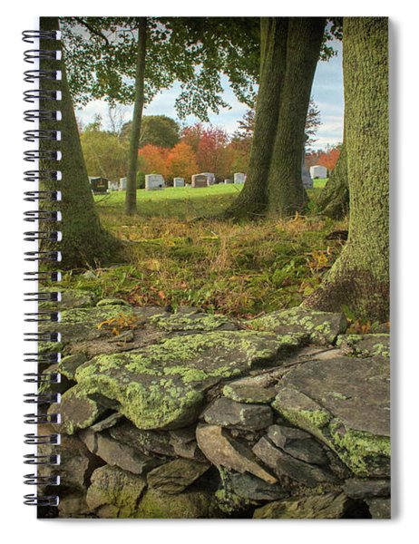 View Toward The Cemetery Spiral Notebook