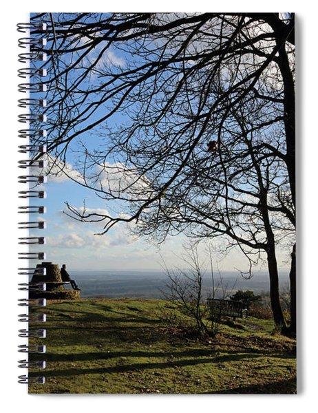 Viewpoint At Holmbury Hill Surrey Uk Spiral Notebook