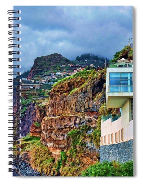 Viewpoint Over Camara De Lobos Madeira Portugal Spiral Notebook