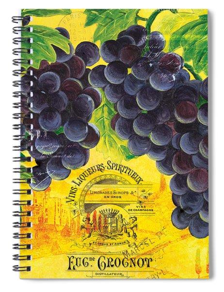 Vigne De Raisins Spiral Notebook
