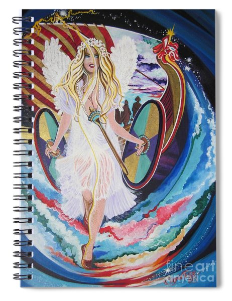 Blaa Kattproduksjoner   Welcomes Viking Goddess  To  Egypt Spiral Notebook