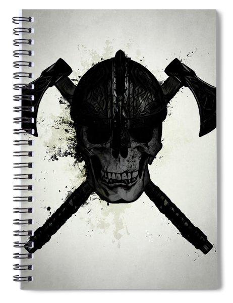 Viking Skull Spiral Notebook
