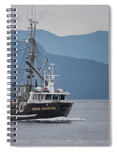 Viking Sunrise At Nw Bay Spiral Notebook