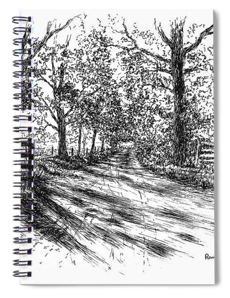 Villa Road At Sunset Spiral Notebook