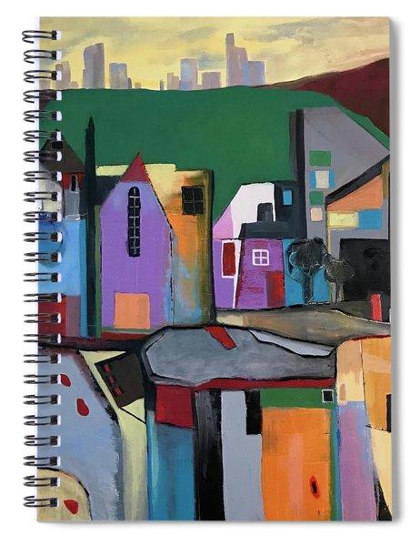 Village Near The City Spiral Notebook