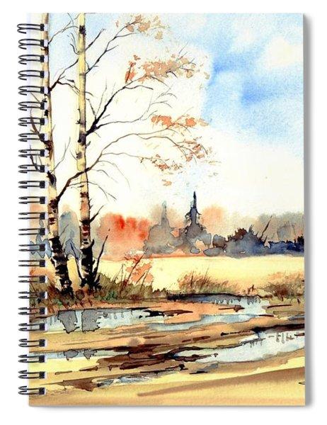 Village Scene I Spiral Notebook