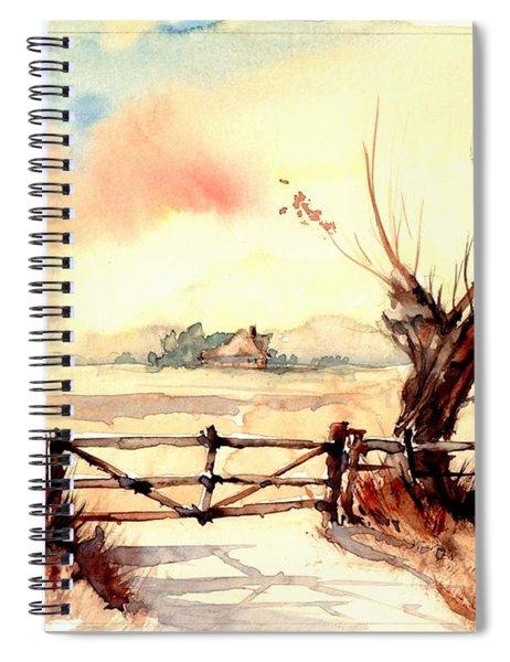 Village Scene IIi Spiral Notebook