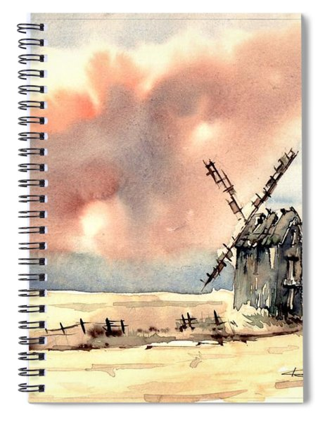 Village Scene Vi Spiral Notebook