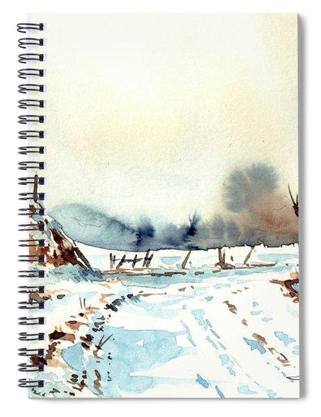 Village Scene Vii Spiral Notebook