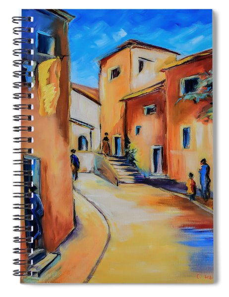 Village Street In Tuscany Spiral Notebook