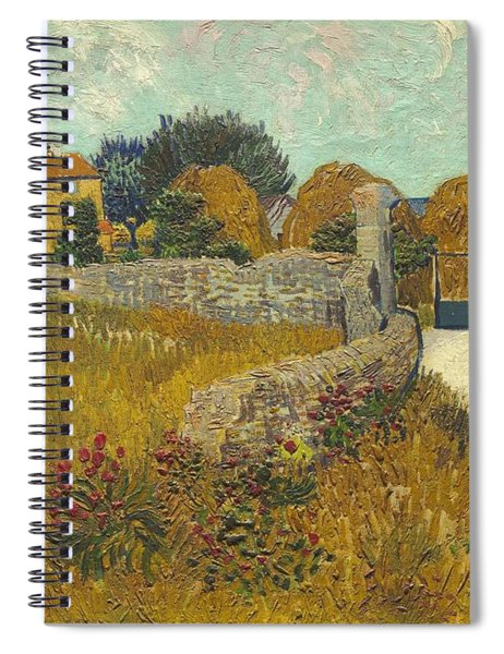 Vincent Van Gogh, Farmhouse In Provence Spiral Notebook