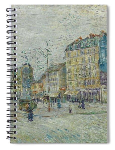Vincent Van Gogh  The Boulevard De Clichy, Paris Spiral Notebook