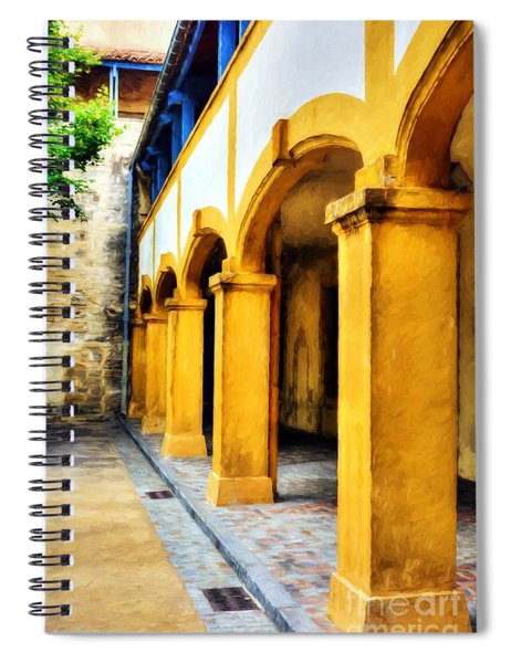 Vincent Was Here # 2 Spiral Notebook by Mel Steinhauer