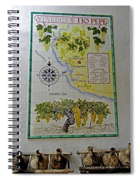 Vinedos Tio Pepe - Jerez De La Frontera Spiral Notebook