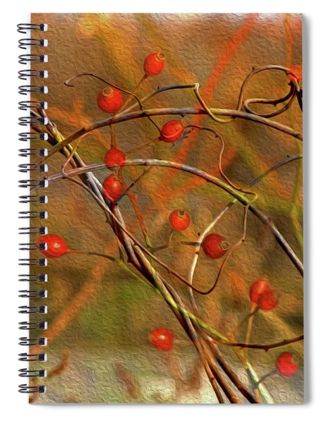 Vines And Winterberries Spiral Notebook