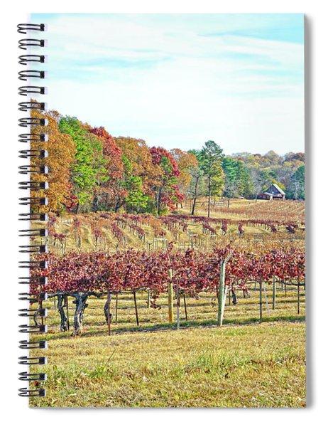 Vineyard In Autumn Spiral Notebook