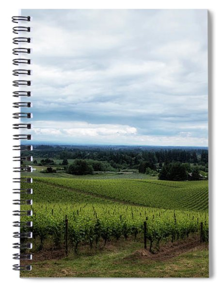 Vineyard On A Cloudy Day Spiral Notebook
