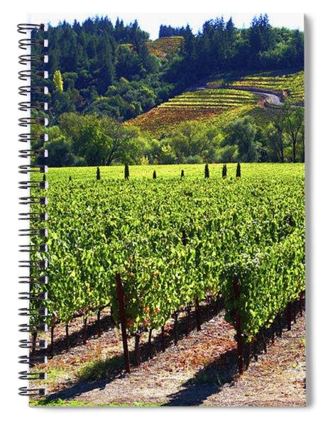Vineyards In Sonoma County Spiral Notebook