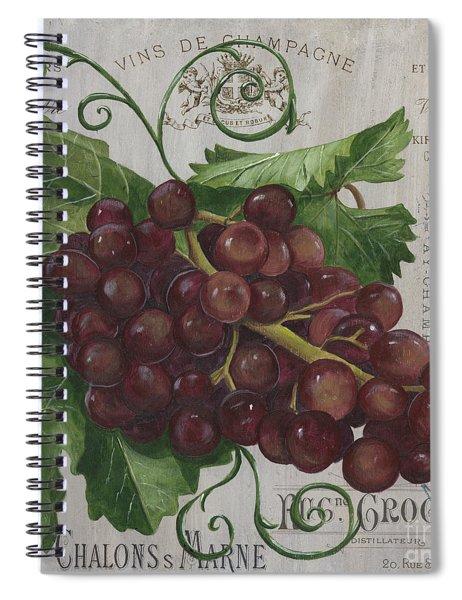 Vins De Champagne Spiral Notebook