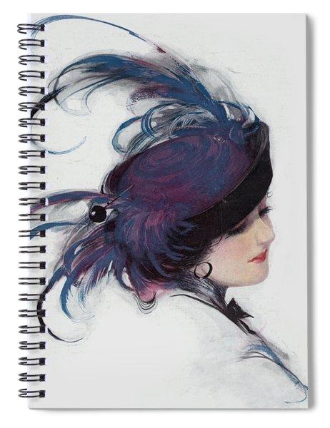 Vintage 1914 Fashion Spiral Notebook