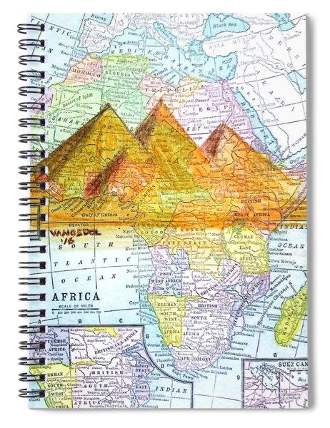Vintage African Map Spiral Notebook
