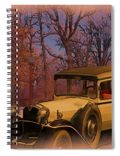 Vintage Auto In Winter Spiral Notebook